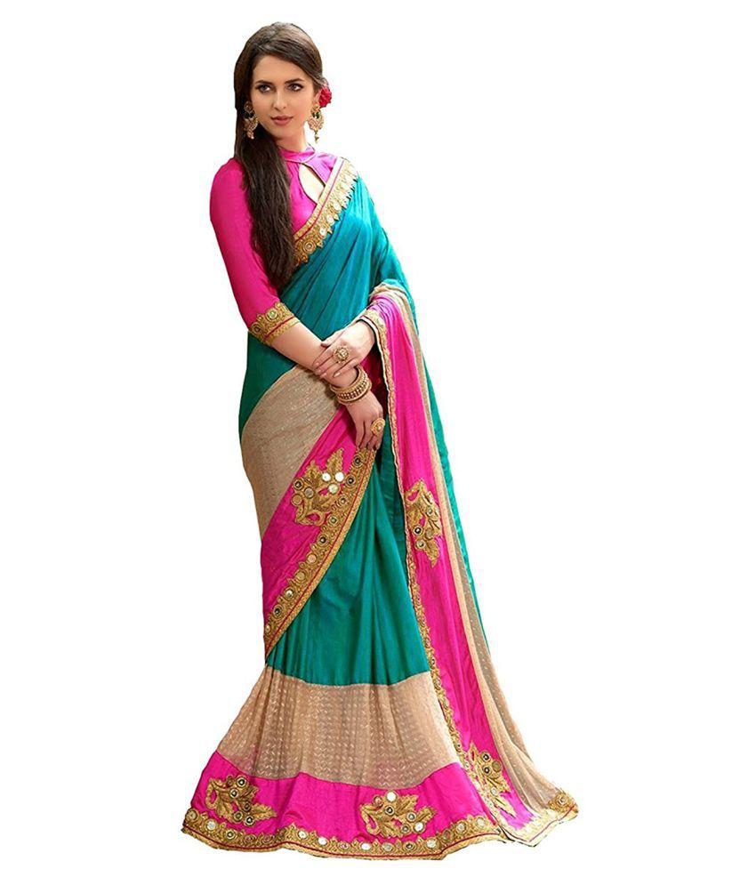 Zofey Bollywood Designer Sarees Multicoloured Silk Saree