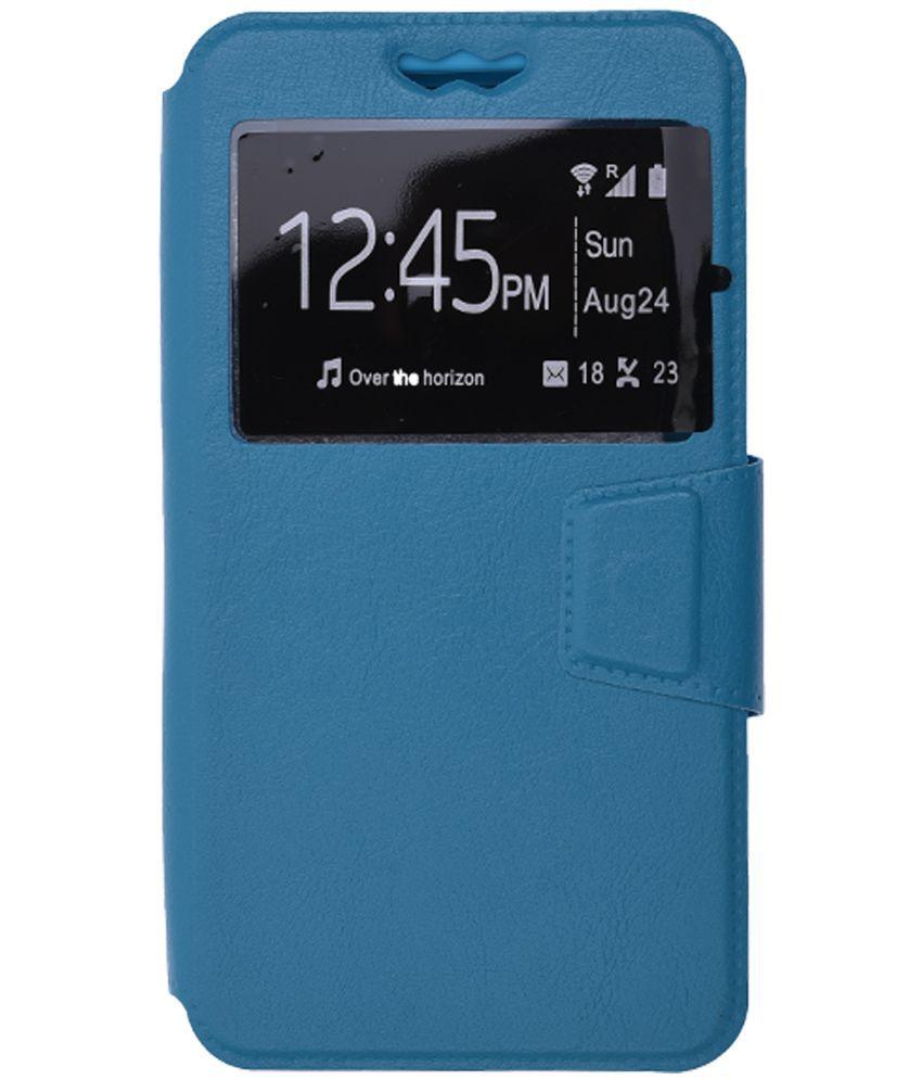 Panasonic Eluga I3 Flip Cover by Shopme - Blue