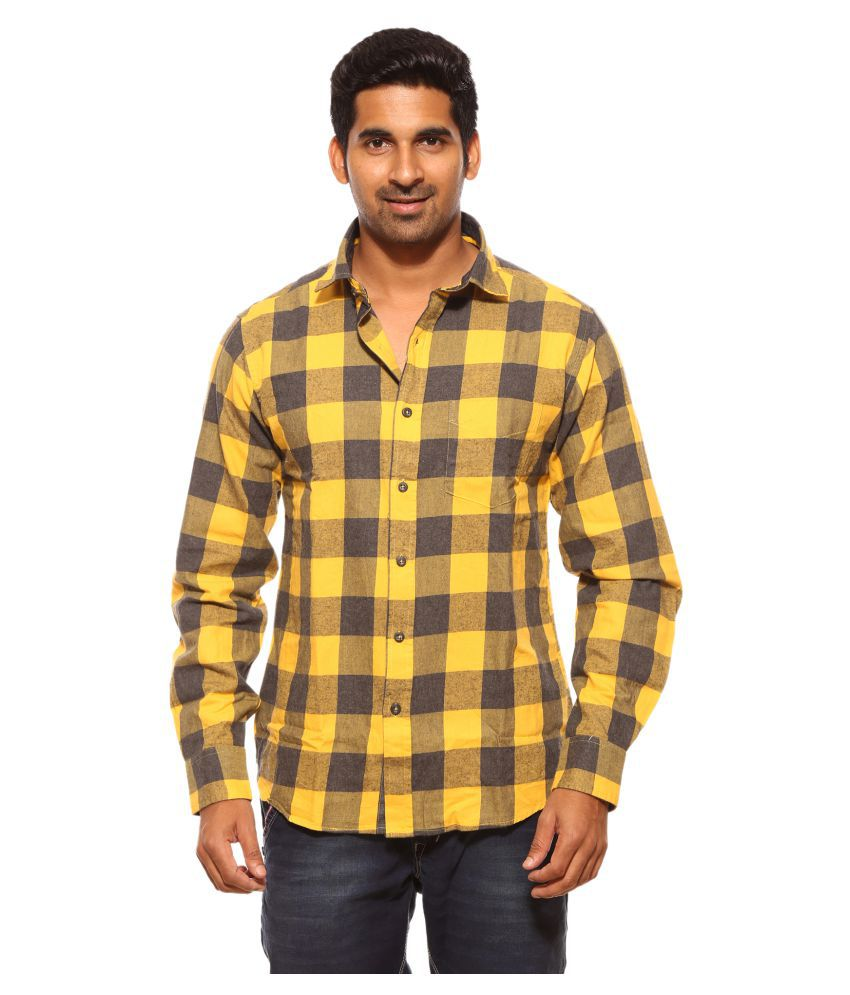 f8c5ecb27996 SUMMER LINE Yellow Casual Regular Fit Shirt - Buy SUMMER LINE Yellow Casual  Regular Fit Shirt Online at Best Prices in India on Snapdeal