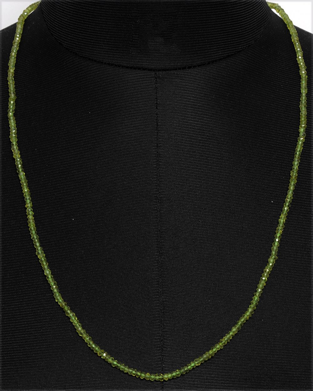 Peridot Gemstone faceted Bead Necklace