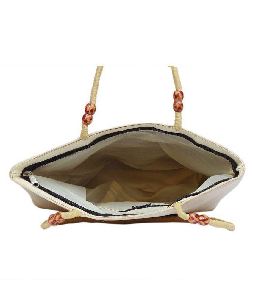 kalakriti handicrafts Red Polyster Shoulder Bag