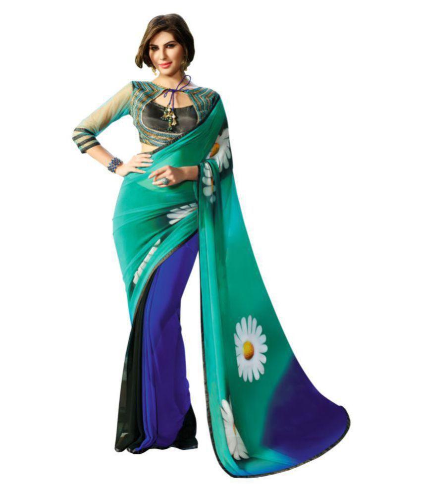 HashTag Fashion Multicoloured Georgette Saree