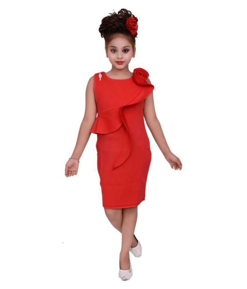 Gungun Creations Red Short Gown Party Wear Girl Dress Buy Gungun