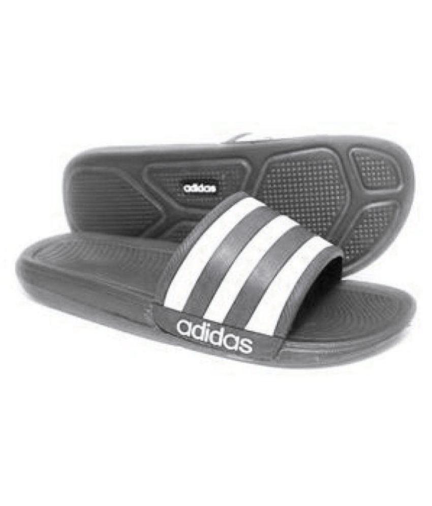 precio inmejorable seleccione para el último última moda Adidas Adidas slider flip flop slipper Black Slide Flip flop Price ...