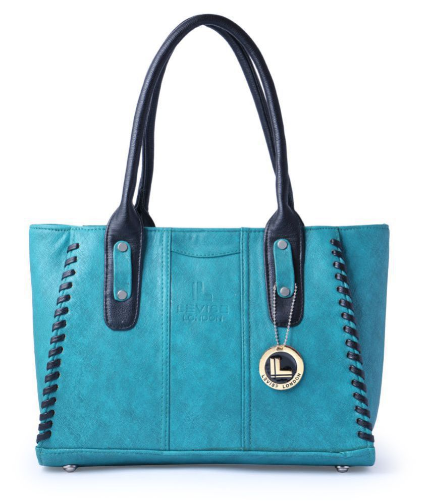 5e9688819745d Levise London Light Blue Artificial Leather Shoulder Bag - Buy Levise  London Light Blue Artificial Leather Shoulder Bag Online at Best Prices in  India on ...