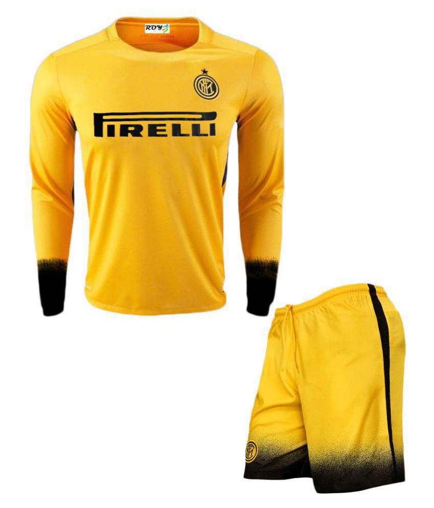 Inter Milan Yellow Polyester Jersey