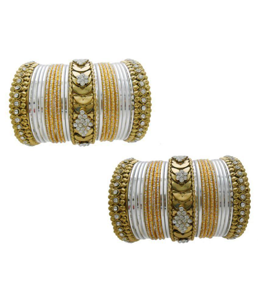 My Design White Bridal Choora Designer Wedding Chuda Store Fashion Bangles Set(Size-2.4)