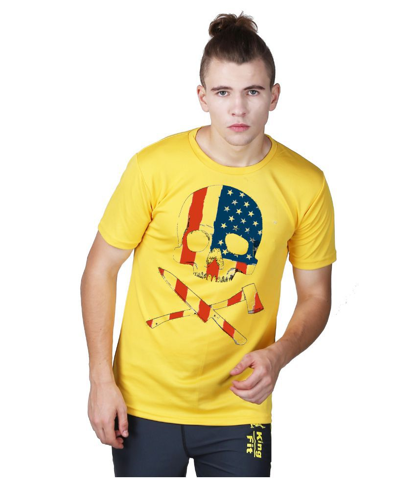 Essenze Yellow Polyester T-Shirt Single Pack