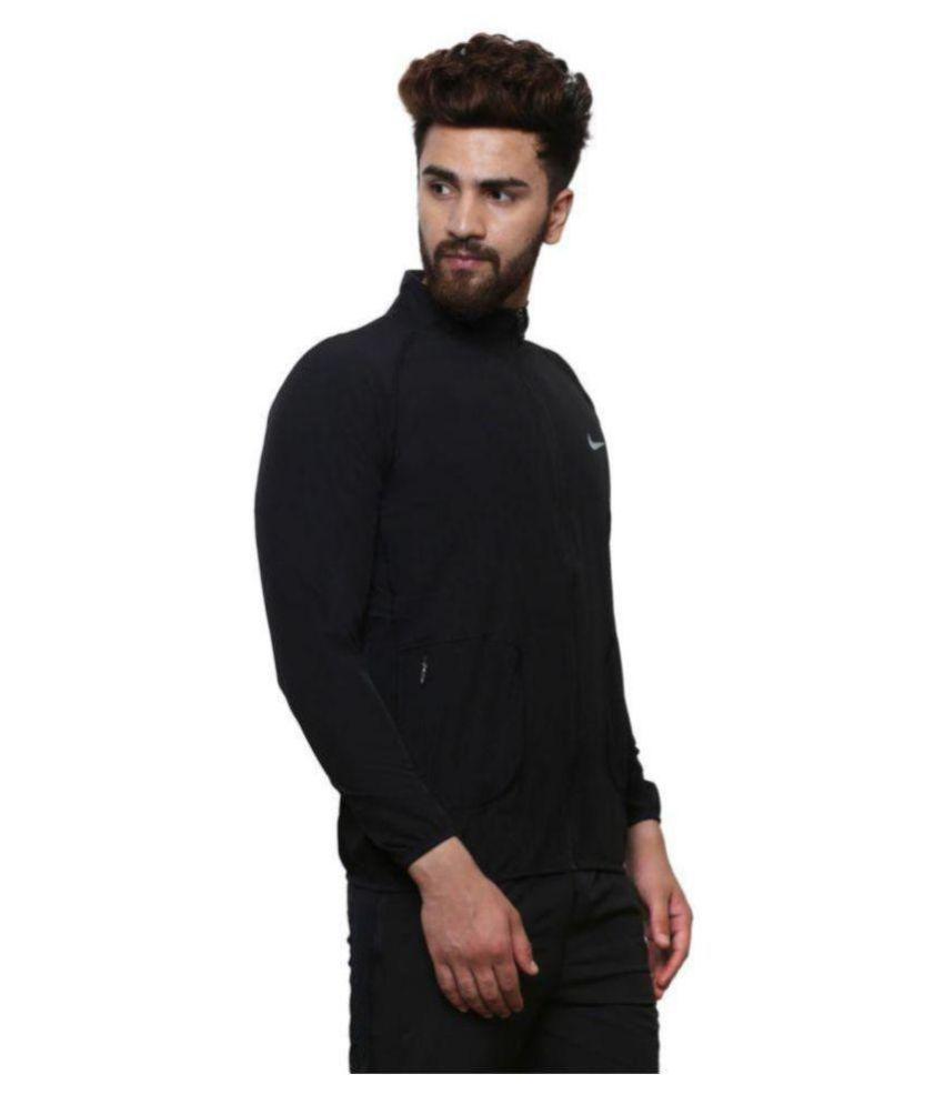 Black Polyester Terry Jacket Buy Black Polyester Terry Jacket