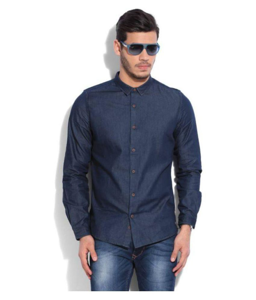 United Colors of Benetton Blue Casual Regular Fit Shirt