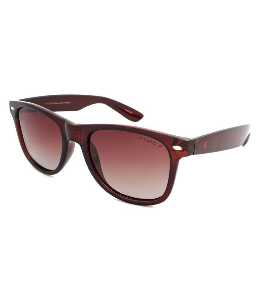 X-ford Brown Wayfarer Sunglasses ( 579 )