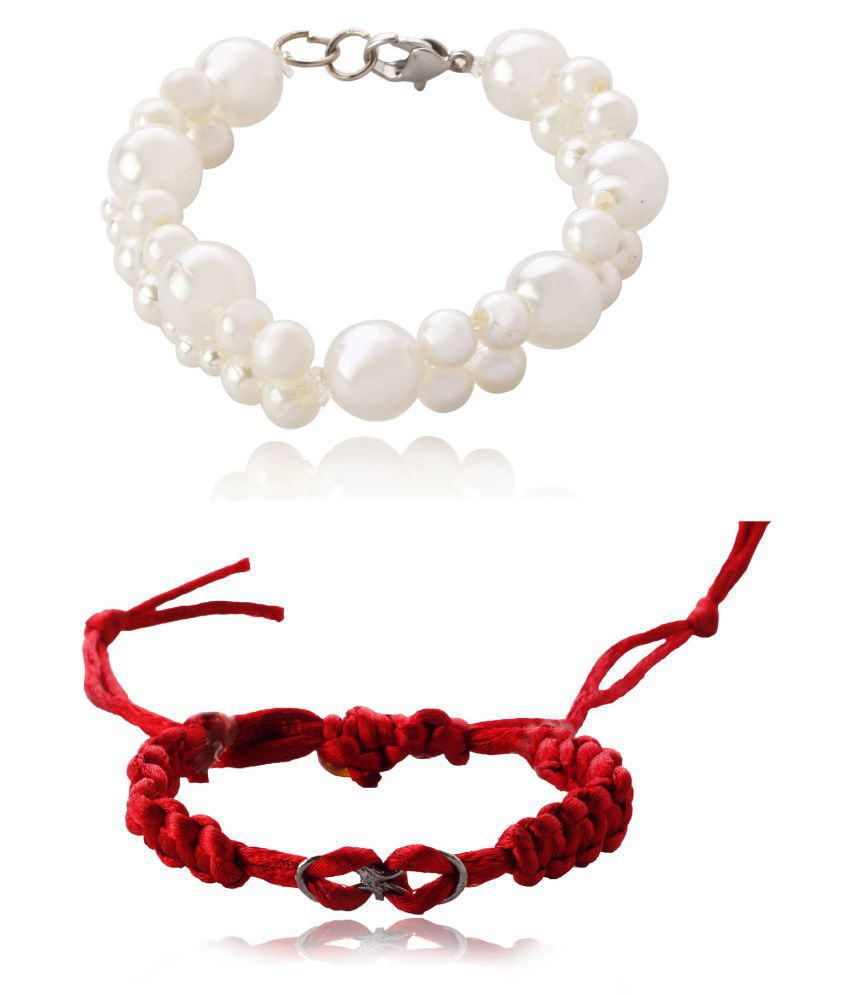 Z Retails New fashionable BCT_ (3)&(9) Pearl Bracelet for Women and Girls