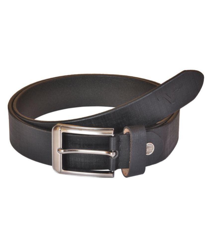 VENER FABICA Black Leather Formal Belts