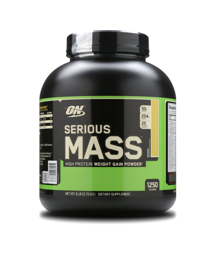 Optimum Nutrition (ON) Serious Mass - 6 lbs (Banana): Buy