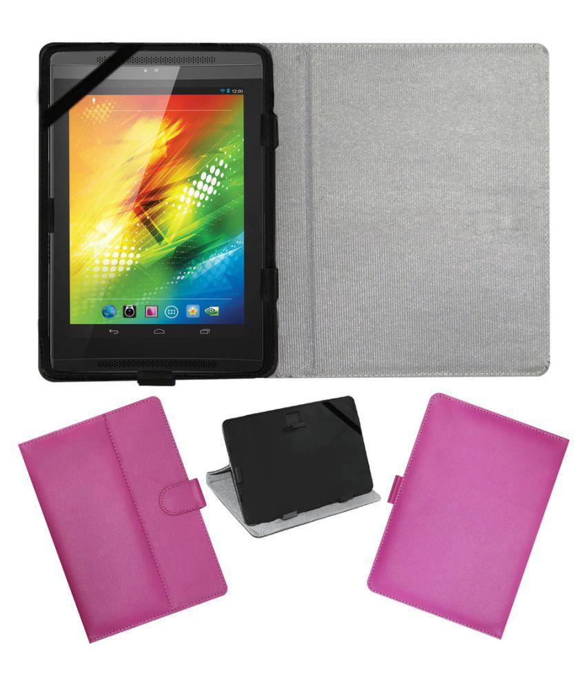 Simmtronics Xpad X722 Flip Cover By ACM Pink