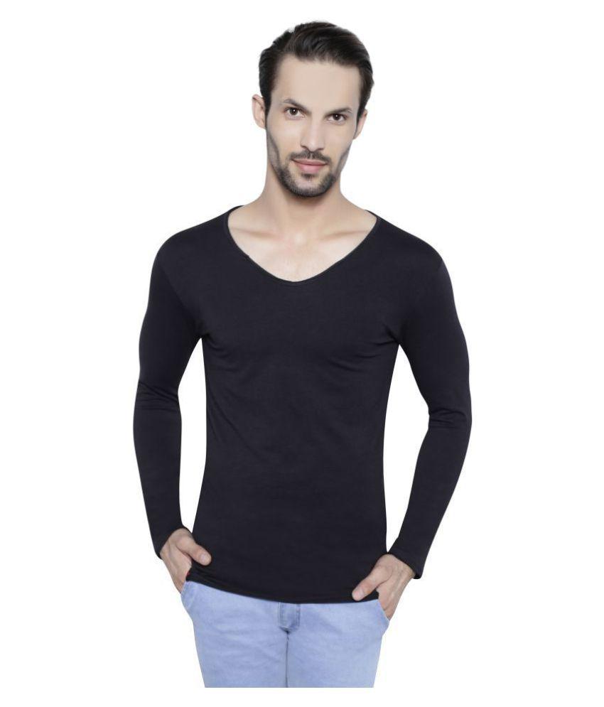 My Styles Black V-Neck T-Shirt