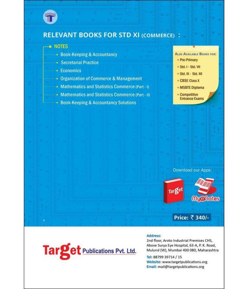 Std 11th Commerce Mathematics and Statistics (Part - I