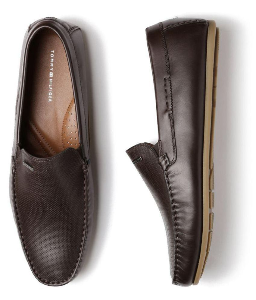 88deeb3edd18 Tommy Hilfiger Brown Loafers - Buy Tommy Hilfiger Brown Loafers Online at  Best Prices in India on Snapdeal
