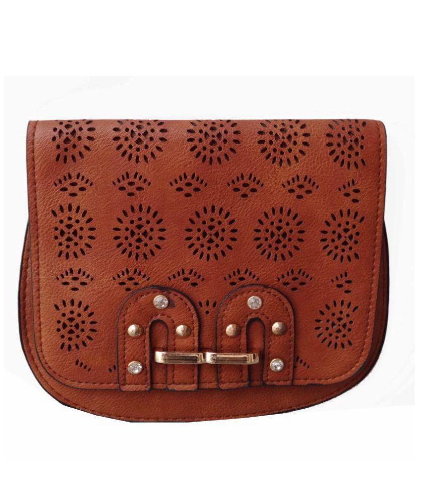 ALIVE Beige Artificial Leather Sling Bag