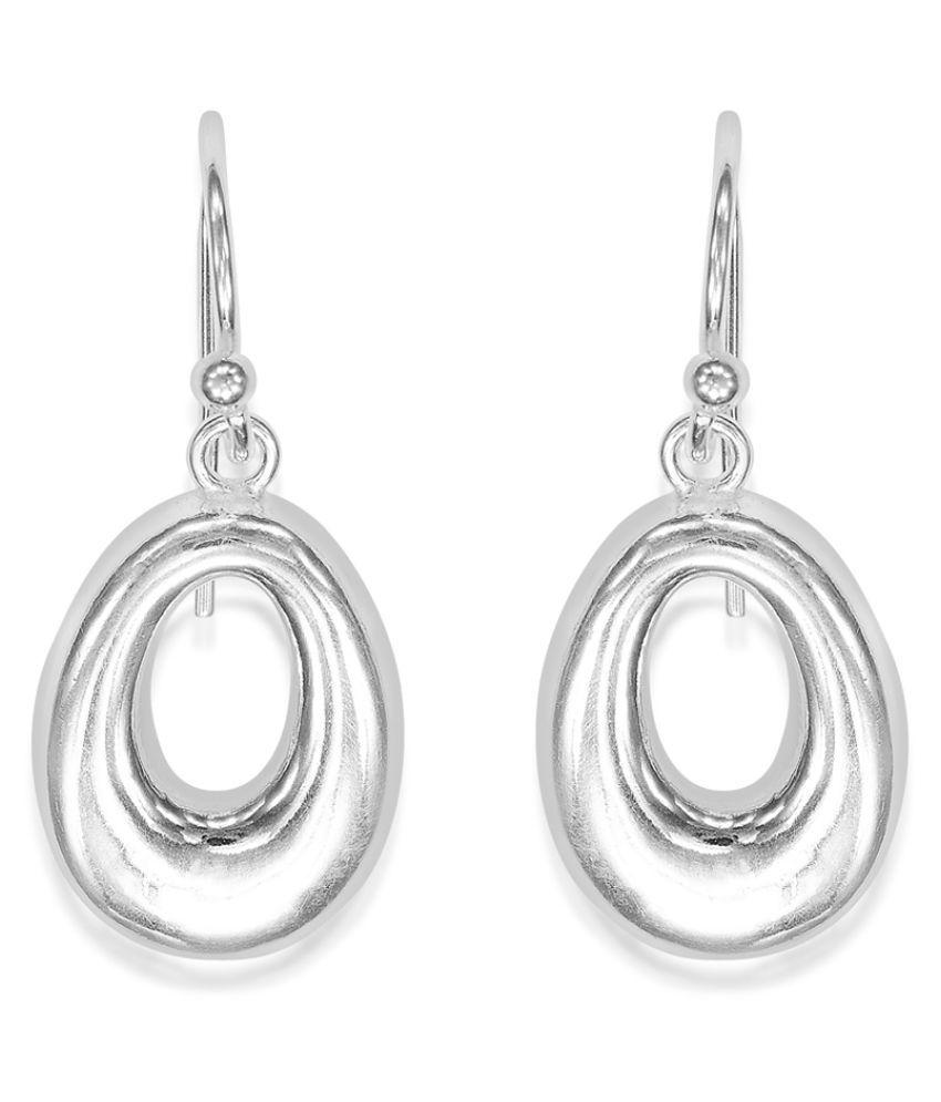 Taraash 92.5 Silver None Drop Earrings