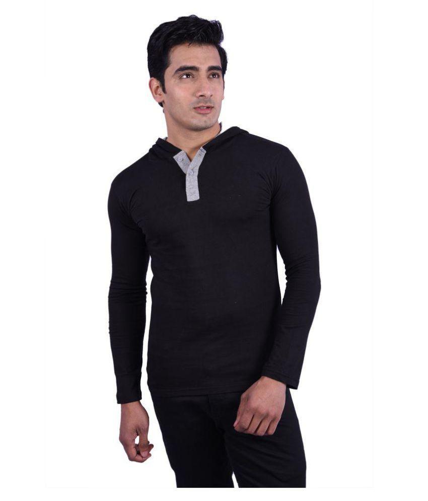 birdstone Black Hooded T-Shirt