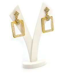 Golden Metal Artificial Traditional Look Earrings For Women and Girls