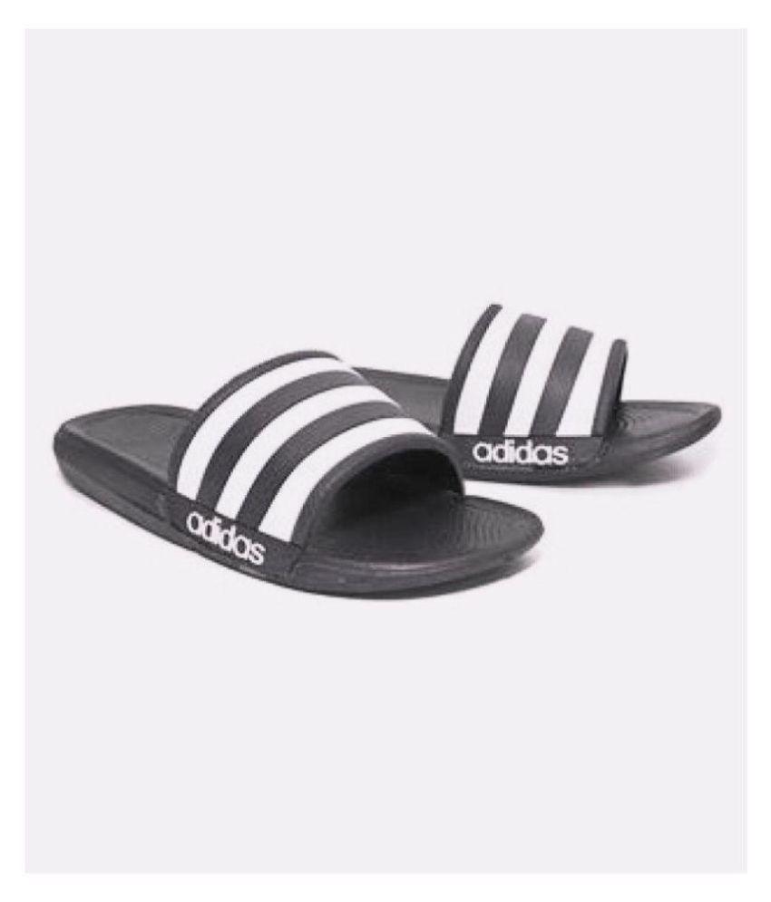 aaa7f90e1 Adidas Black Slide Flip flop Price in India- Buy Adidas Black Slide Flip  flop Online at Snapdeal