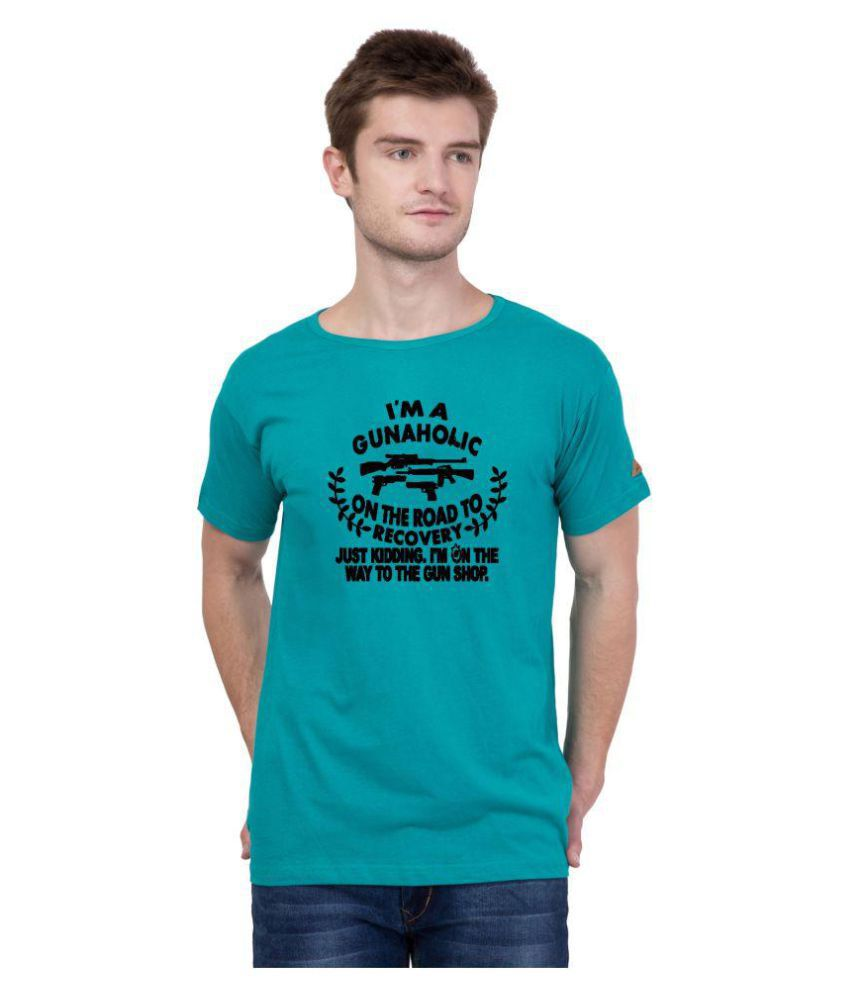 American-Elm Turquoise Hooded T-Shirt