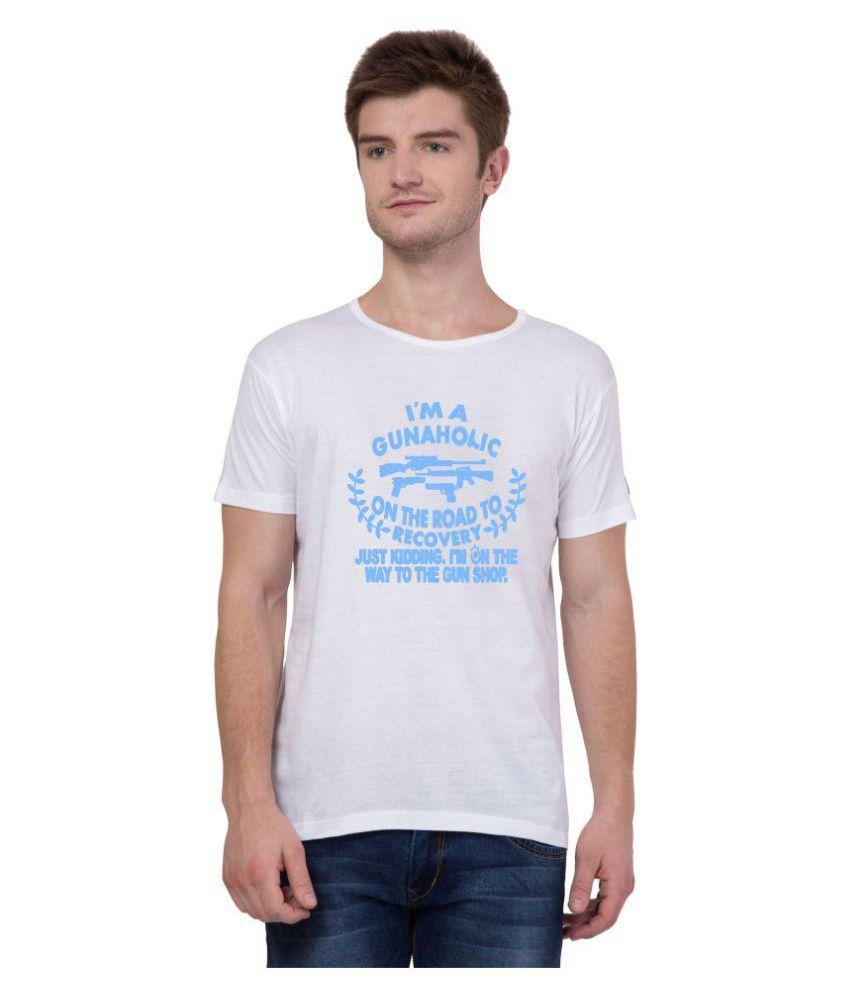 American-Elm White Round T-Shirt