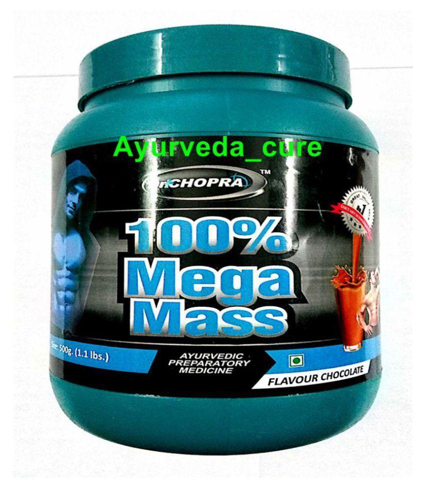Ayurveda Cure Dr Chopra's 100% Mega Mass 500 gm Weight Gainer Powder