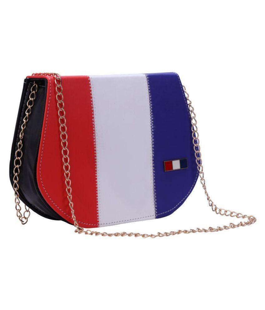 Bee Fashionable Red P.U. Sling Bag