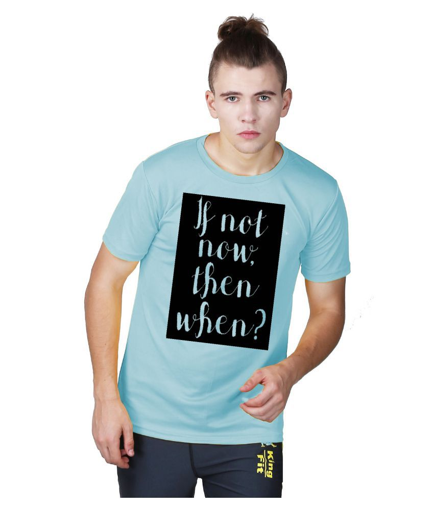 Essenze Sky Blue Polyester T-Shirt Single Pack