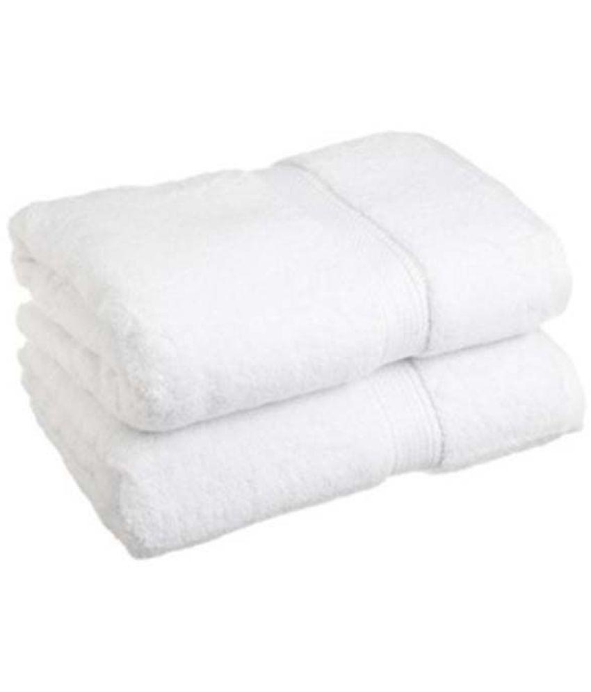 white bath towel. Fresh From Loom Set Of 2 Cotton Bath Towel White