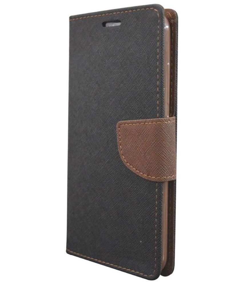 Samsung Galaxy J5 Flip Cover by Rdcase - Black