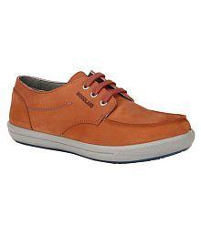 Woodland Orange Casual Shoes