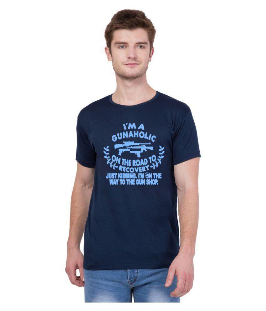 American-Elm Navy Round T-Shirt