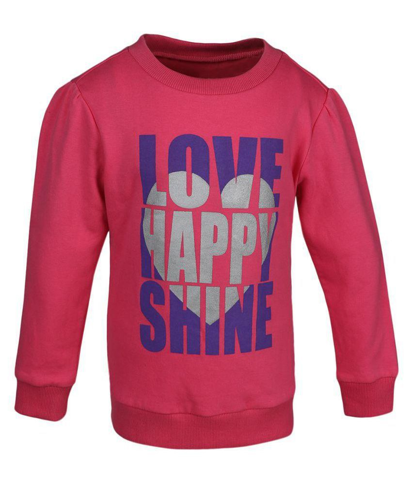 Pink Cotton SWEAT SHIRT