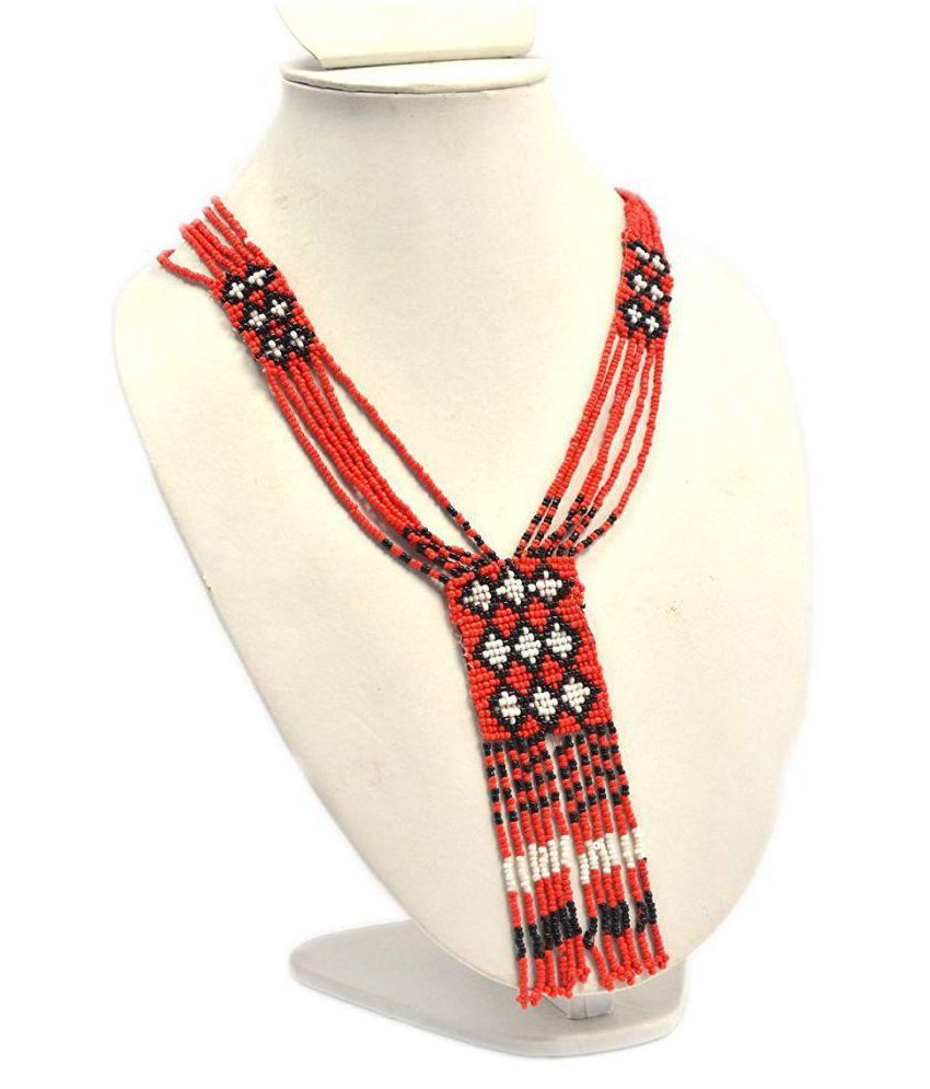 Red Color Acrylic Necklace