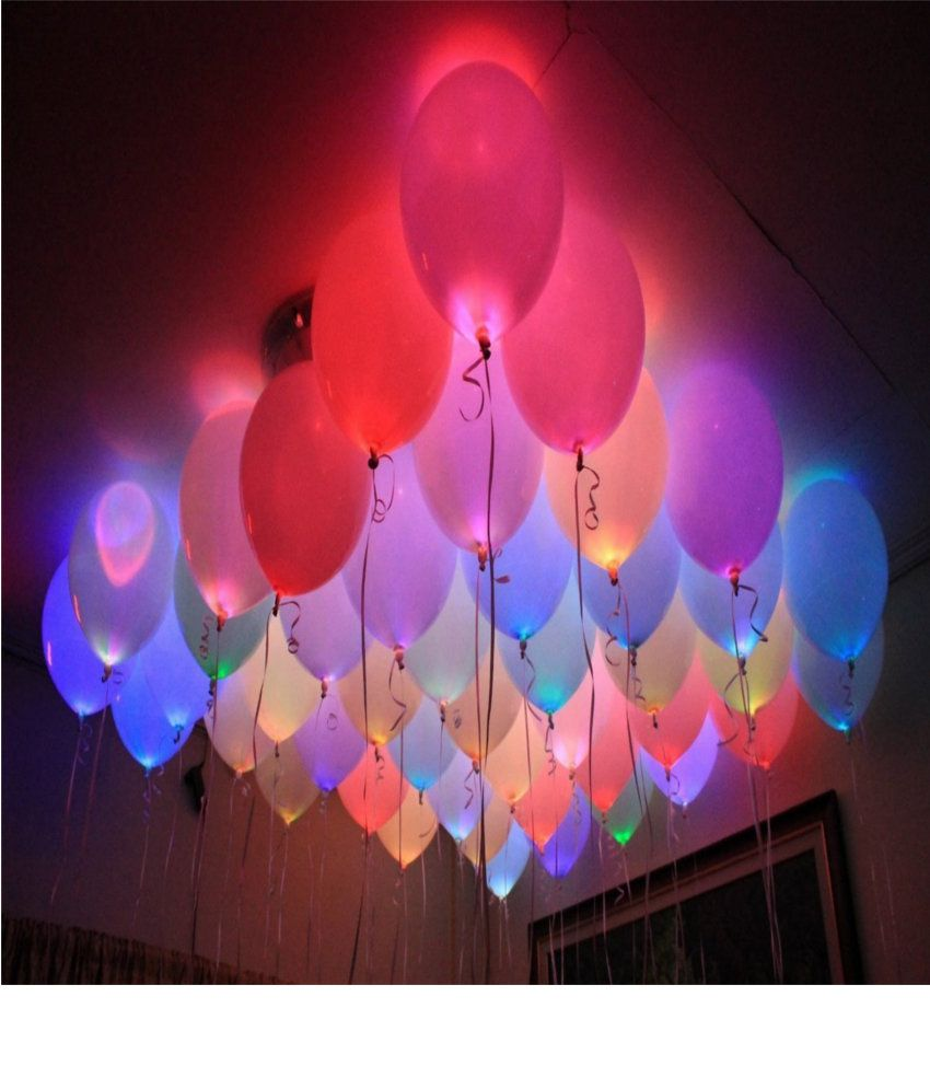 Tingoking Set of 25 LED Balloons for