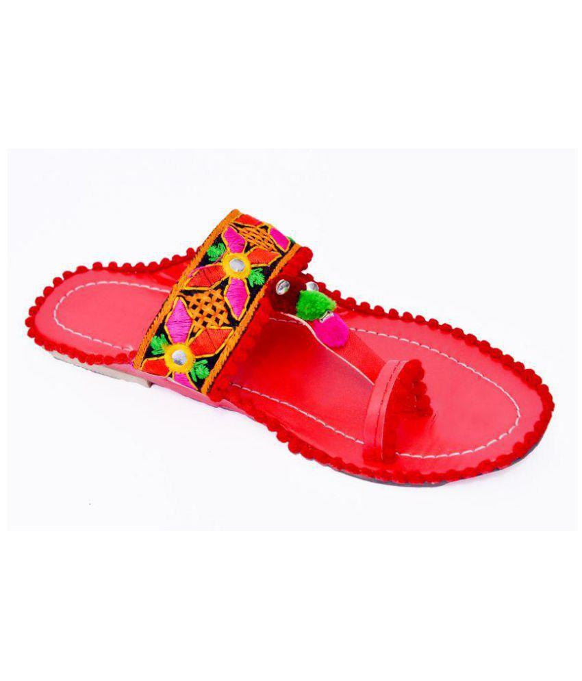 Fashion Thikana Red Flats