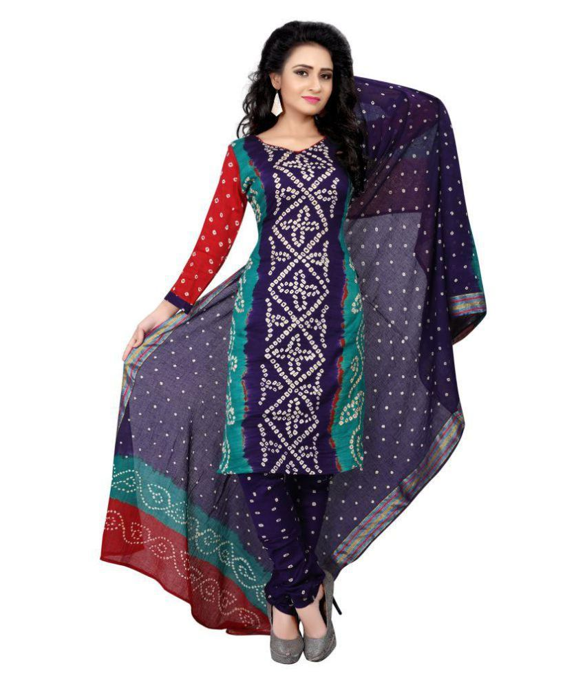 Sharda Creation Multicoloured Art Silk Dress Material