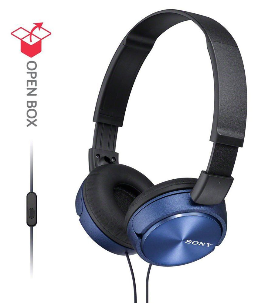 Sony MDR-ZX310AP Over Ear Wired Headphone Without Mic Blue