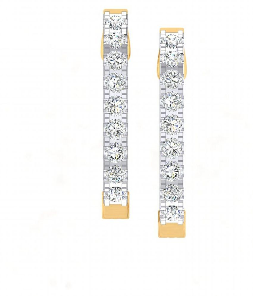 Gili 18k BIS Hallmarked Gold Diamond Hoop