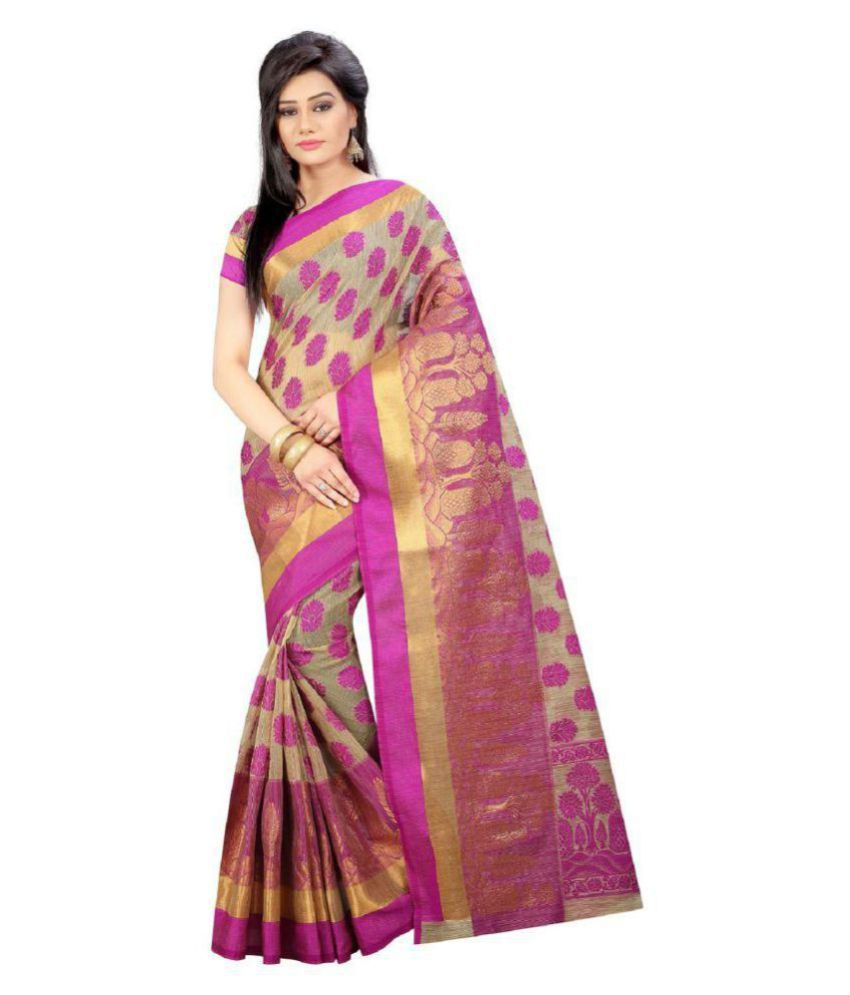 kataria fashion Multicoloured Tussar Silk Saree
