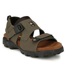 Shoegaro Men's Lifestyle Green Sandals
