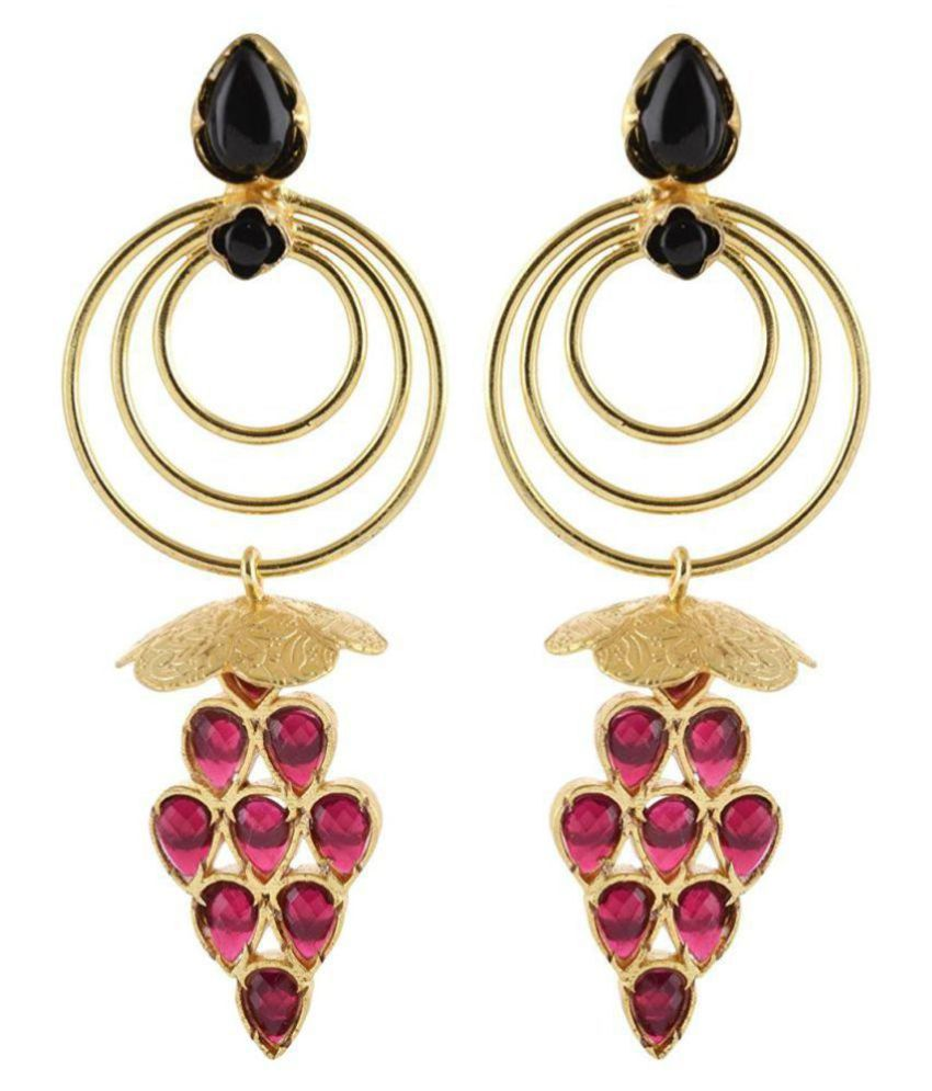 Advika Gold Brass Dangle & Drop Earrings for Women