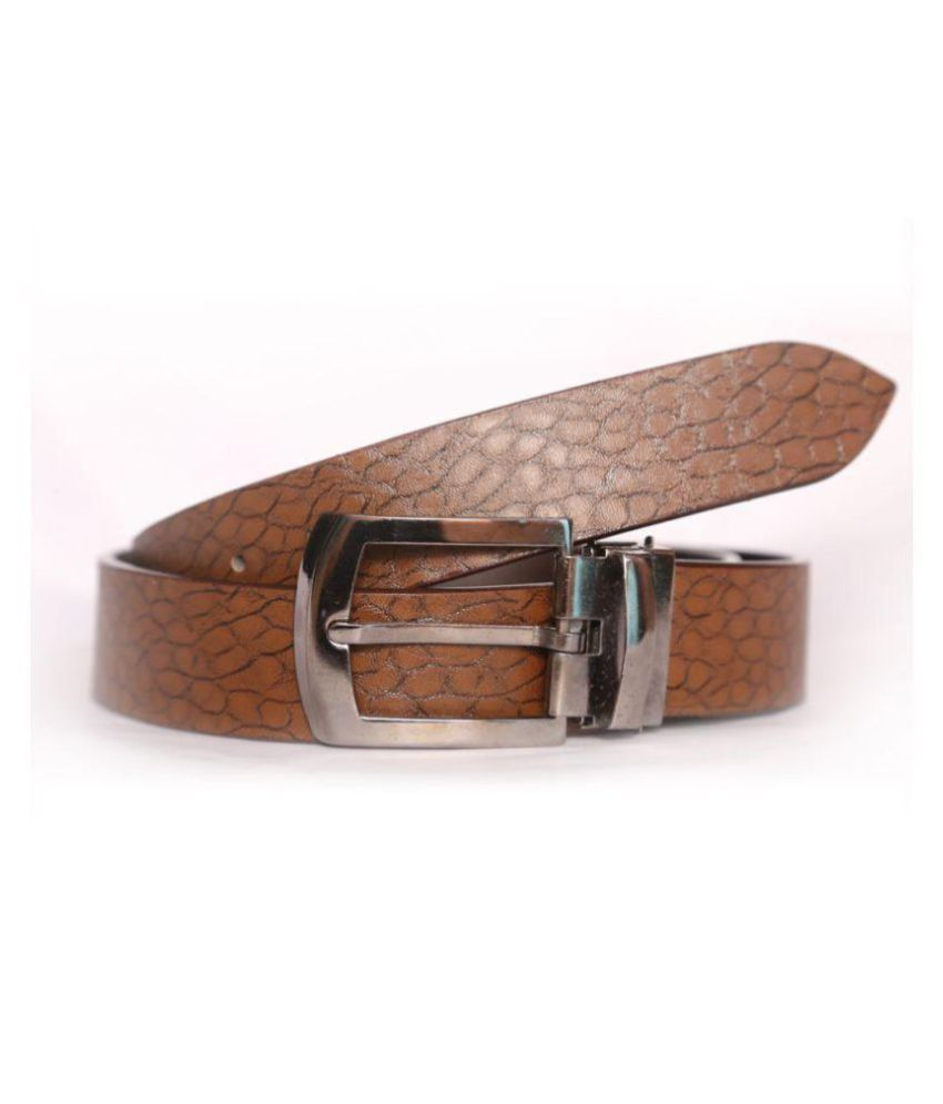 D_ANGAL Tan PU Casual Belts