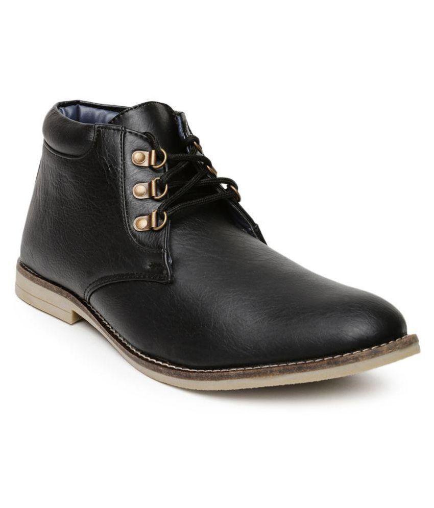 Roadster Black Formal Boot
