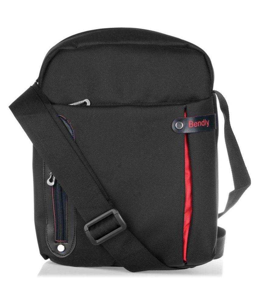 Bendly Compact Kit B2 Black Polyester Casual Messenger Bag