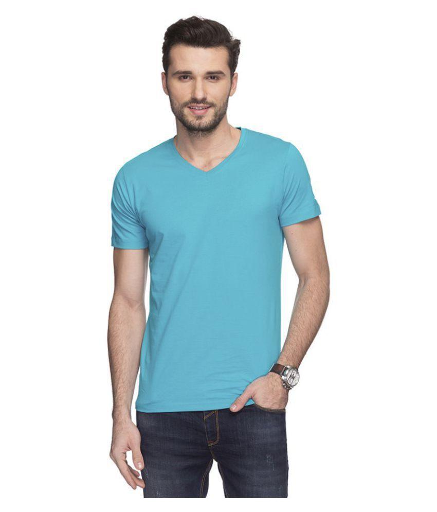 Status Quo Turquoise V-Neck T-Shirt